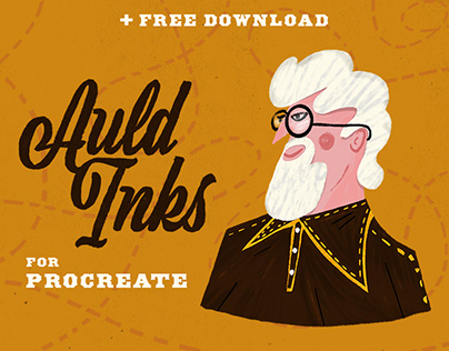 Auld Inks for Procreate + Free Brushes Download