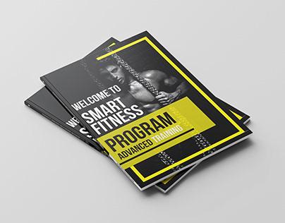 body builder brochure Design
