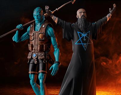 Hellboy Abe Sapien & Rasputin for 1000toys & Dark Horse