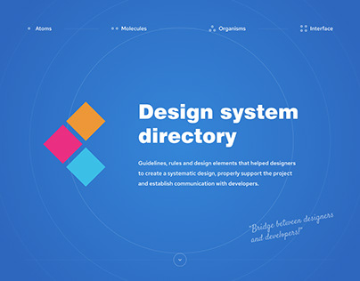 Design system based on Travelino project
