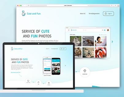 Website for Cute&Fun App