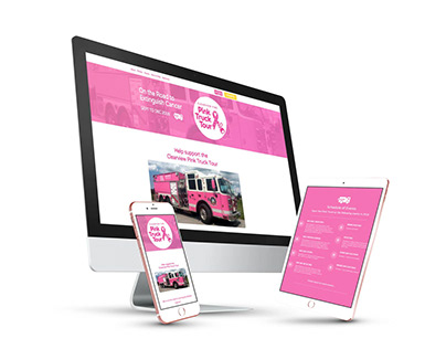 Website for Pink Truck Tour