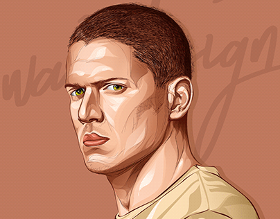 Michael scofield -Prison break - vector art