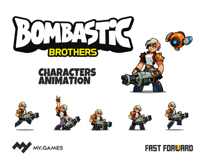BOMBASTIC BROTHERS CHARACTERS ANIMATION