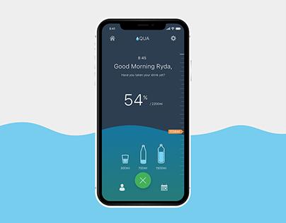 AQUA—A water intake calculator app