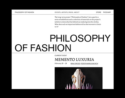 Philosophy of Fashion