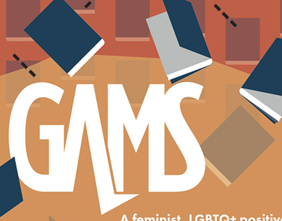 School work: Gams logo, branding, & print ads