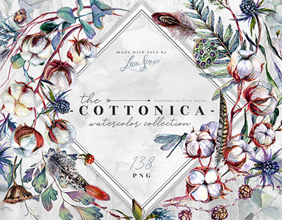 Cottonica | Scandinavian Style Watercolor Collection