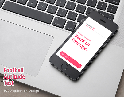 Mobile UI Design - Football Aptitude Test