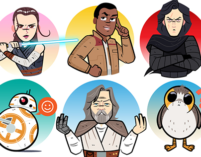 Star Wars: The Last Jedi Facebook Stickers
