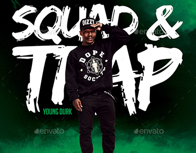 Squad & Trap | Modern Artist Flyers PSD Template