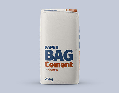 Paper Cement Bag Mockup Set
