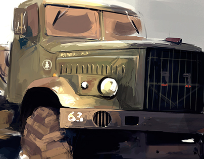 Old Russian truck