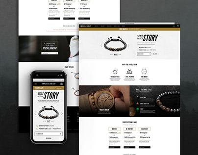 Landing Page Design for Original Grain