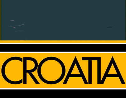 Croatia Postcard Design