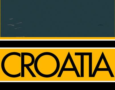 Croatia Postcard Design
