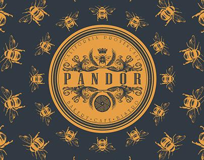 Pandor bakery and cafe logo and brand identity design