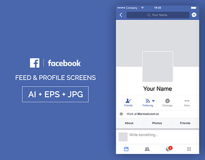 FREE Facebook PSD Post Mockup – 2018 on Behance