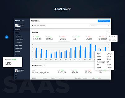 Adves. SaaS application - UI/UX Design