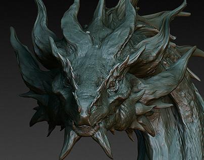 Dragon Bust Sketch