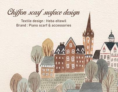 Surface textile design | Chiffon scarfs