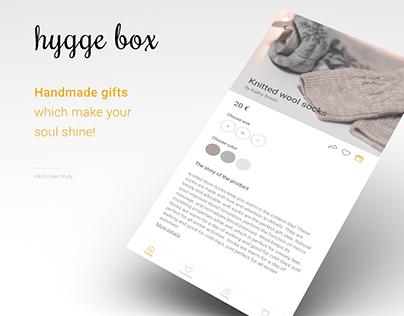 Hygge online shop for handmade goods - UX/UI case study