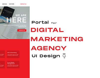 Digital Marketing Agency Portal | UI Design