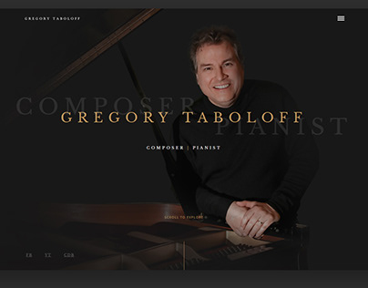 Gregory Taboloff - Art Direction Website