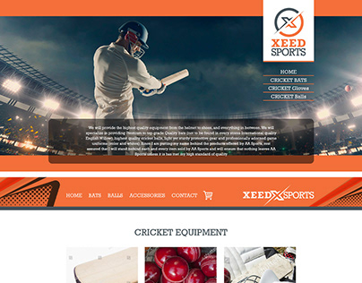Xeed Sports Website Design and Development