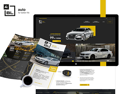 4BL - New dimension of car rent - Logo and web design