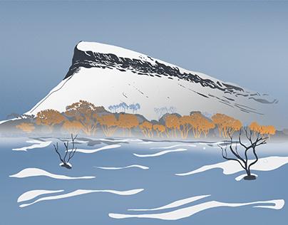 Snowy Ben Bulben