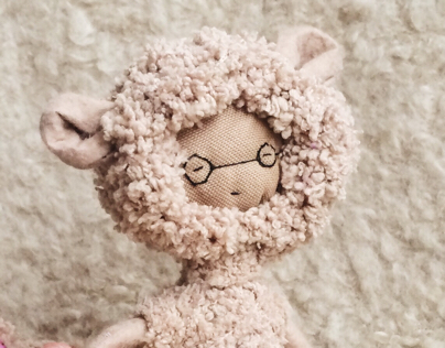 mohair doll with teddy bear costume