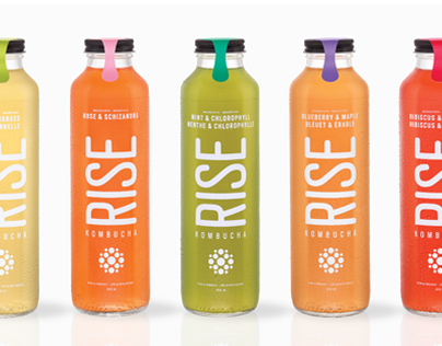 RISE KOMBUCHA PACKAGING