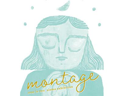 montage -souslenez aloma exhibition -2019 / ON READING