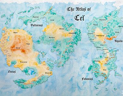 Fantasy world map The Atlas of Cel