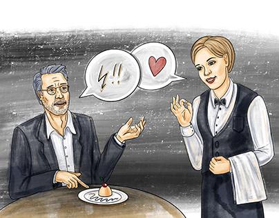 Hospitality illustrations