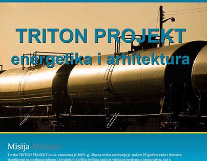 Triton-projekt web page - 1page - responsive
