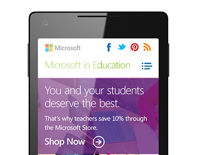 Microsoft in Education site