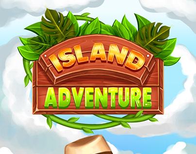 "Match3 game art ""Island Adventure"""