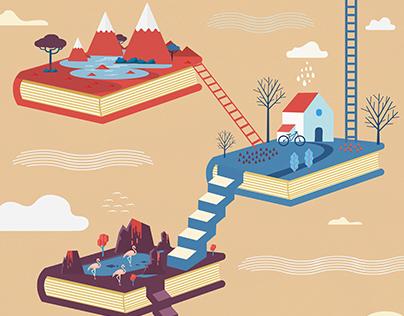 Book travel Illustration