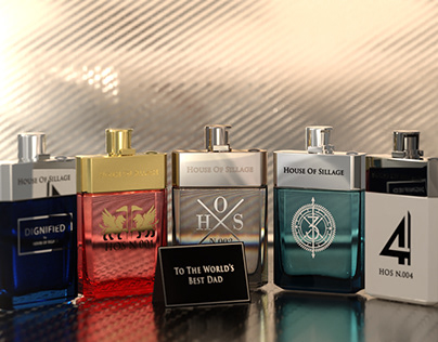 Men's Fragrances Visuals for House Of Sillage