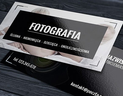 Dark photographer business card