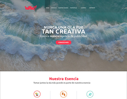 WAW Agency - Website LANDING PAGE- Graphic Design