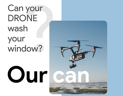 Can your Drone wash your window?