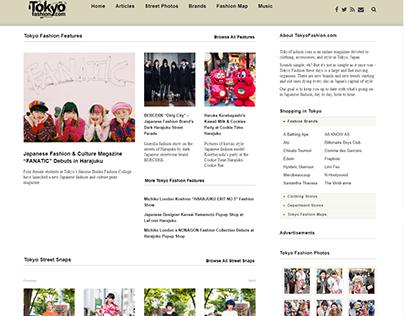 TokyoFashion - Website Revamping, Responsive Added.