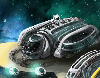 sci-fi illustrations for Artipia Games