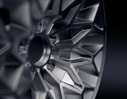 "Pontiac Trans Am ""Snowflake"" rim 3D-model and print"