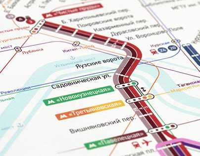 MOSCOW TRAM wayfinding & identity system