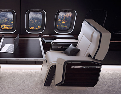 'Onegin' Business Jet Interior Design