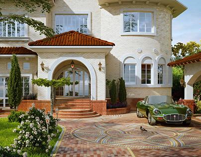 Mediterranean style mansion